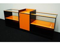 Shop Counter set of 3 units Orange and Black Gloss Finish/Ref:0331