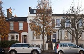 A three bedroom flat, arranged over the first and second floors of a Victorian period conversion..