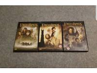 Lord of the Rings DVD trilogy