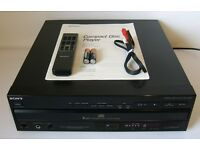 Sony 5 Disc CD Player Model No. CDP-C305M with Manual, Remote & RCA Phono Cable. £30
