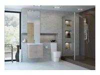 Stunning Bathroom Wall Hung Furniture in Cashmere Gloss, All at Bargain Prices, NR6 6GB