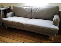 IKEA STOCKSUND 3 seater sofa in grey-beige - in great condition - buyer collect - reduced to £200!