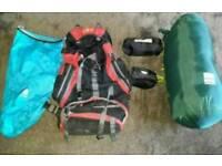 Rucksack sleeping bag pillow camping item