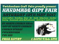 TCF's Handmade Gift Fair - Twickenham - 13th MAY 2017