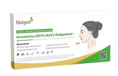 10 x Hotgen Corona Schnelltest Selbsttest Laien Test Antigen BfArM Nasal Covid19
