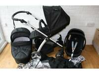 Mamas and papas sola pram in black