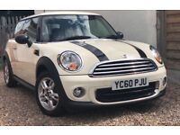 2010 MINI ONE 1.6 + FULL SERVICE HISTORY + FACE LIFT + PEPPER PACK + LOW 56,000 MILES !!