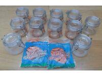 Le Parfait Clip Top Preserve Jars and replacement rubber seals