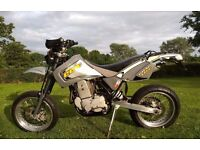 CCM 604e DS Supermoto and Enduro/trail bike. Both sets of wheels included (very rare!)