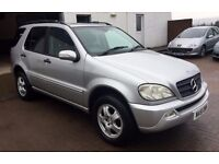 VERY VERY Clean 2001 MERCEDES ML 270 CDi 4x4 diesel 6 sp Manual,alloys, towbar, cd a/c, 12months mot