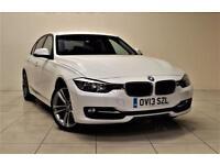 BMW 3 SERIES 2.0 320D SPORT 4d 184 BHP + AIR CON + AUX CONNECTI (white) 2013