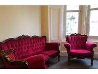 vintage baroque style sofa and armchairs