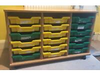 Mobile 18 Tray Storage Unit