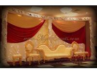 Nikkah Stage Decoration £299 Nikka Wedding Chair £199 Asian Wedding Caterer £12pp Bengali Wedding