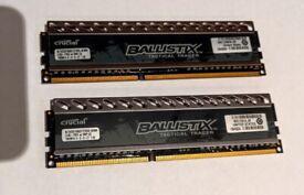 Crucial Ballistix Tactical Tracer 8GB(2X4GB) RAM Mem 1866Mhz