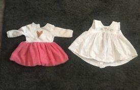 2x baby girl dresses