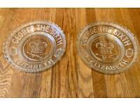 2 Crystal Bowls / Plates