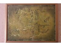 Lord of the Rings Framed Middle Earth Map