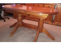 Dining Table (solid, rich pine) extendable for up to 6 people