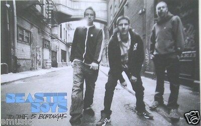 "BEASTIE BOYS ""TO THE 5 BOROUGHS"" POSTER - GROUP STANDING IN ALLEY"