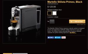 Martello Stilista Primeo Black  espresso Coffee maker