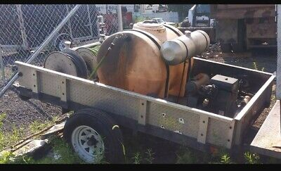 Sewer Jetter On Trailer 10 Gallons A Minute 125 Gallon Tank Electric Hose Reel