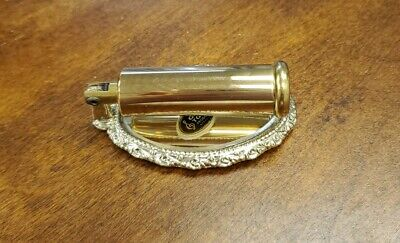Vintage Rare Lipstick Holder and Mirror Compact Gold and Silver Tone