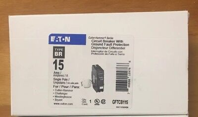 New Eaton Cutler Hammer Ground Fault Circuit Breaker Single Pole Gftcb115 Br