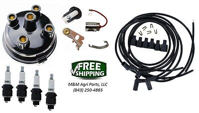 Complete Tune Up Kit John Deere 1010 1020 Crawler - 4 Cylinder Wico Distributor