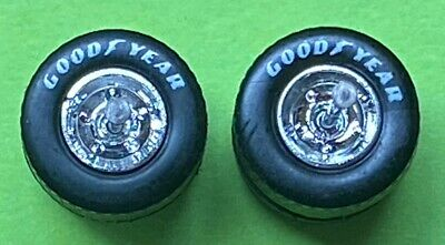 5 sets  HOT WHEELS Goodyear REAL RIDERS WHEELS & Tires (sm/sm) Chrome Hubs