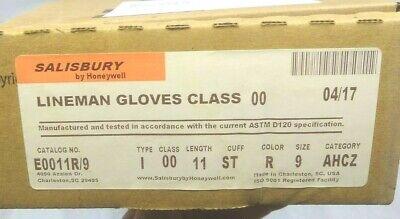 New Salisbury Lineman Gloves Class 00 Size 9 Red 11