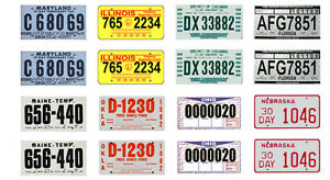 1 18 scale model 30 day temporary car license tag plates. Black Bedroom Furniture Sets. Home Design Ideas