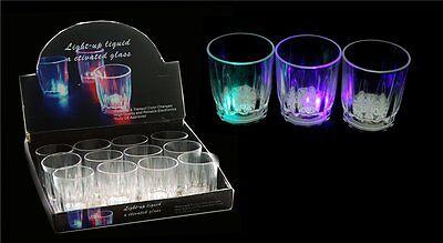 12 x Schnapsgläser Schnapsglas Glas 4 cl Trinkglas Party LED Schnapskrug