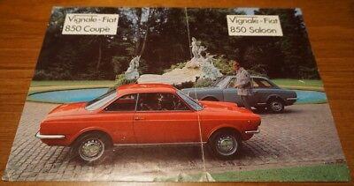 VERY RARE Vignale Fiat 850 Saloon & Coupe 1969 Classic Car Brochure