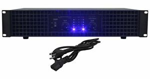 New Technical Pro AX1200 1200 Watt 2-Channel Amplifier 2U Rack DJ Power Amp