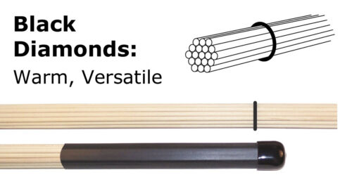 Multi-Rod Drumsticks, Professional Quality, Birch, Save 50% (Hot Rod root size)