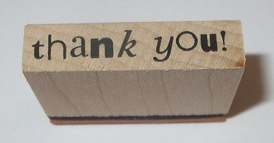 (Thank You Rubber Stamp PSX Wood Mounted Sayings 1 3/8