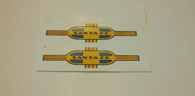 LIONEL 218 SANTE FE AA ALCO BLUE NOSE CLEAR WATERSLIDE 2 DECAL PER SET LOOK!