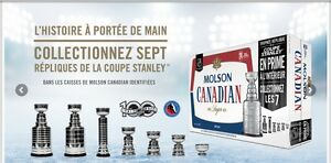 Molson Canadian mini Stanley Cups 2017