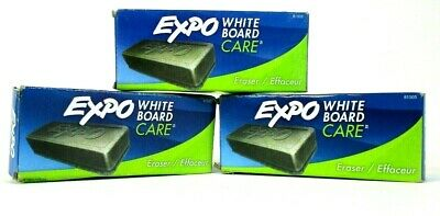 3-pack Expo White Board Care Eraser 81505 Dry Erase Eraser - New Open Box