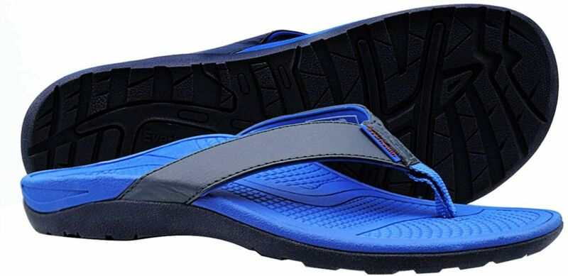 EVERHEALTH Men's Orthotic Flip Flops Thong Sandals with Comf