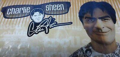 Charlie Sheen Winning Halloween Costume Latex Mask & Shirt XL 44 46 Rubie's NEW (Halloween Costume Wins)