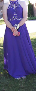 Elegant Plum Purple Prom Gown For Sale
