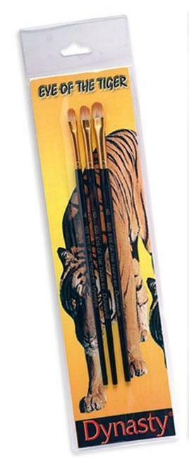 """Dynasty Eye Of The Tiger SET """"D"""" Filbert Paint Brushes 4-6-8 (06528)"""