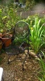 Vintage Metal Garden Chair