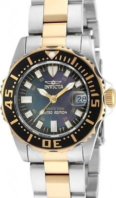 New Ladies Invicta Cruiseline Swiss Diver 30mm Two Tone Black Pearl Dial Watch