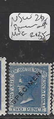 NEW SOUTH WALES  (P1909B) QV 2D  H OVPT SPECIMEN  MNG