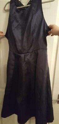 Isaac Mizrahi NEW YORK Navy Dress X Cross Back BRAND NEW size 14