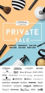 L'Oréal Private Sale Tickets for September 17th to October 15th