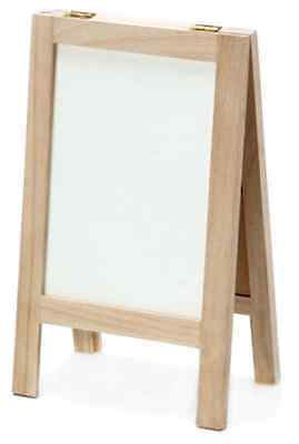 Chalkboard and Whiteboard Easel - Wood Easel with Dry Erase and Black Board Side Dry Erase Easel Board